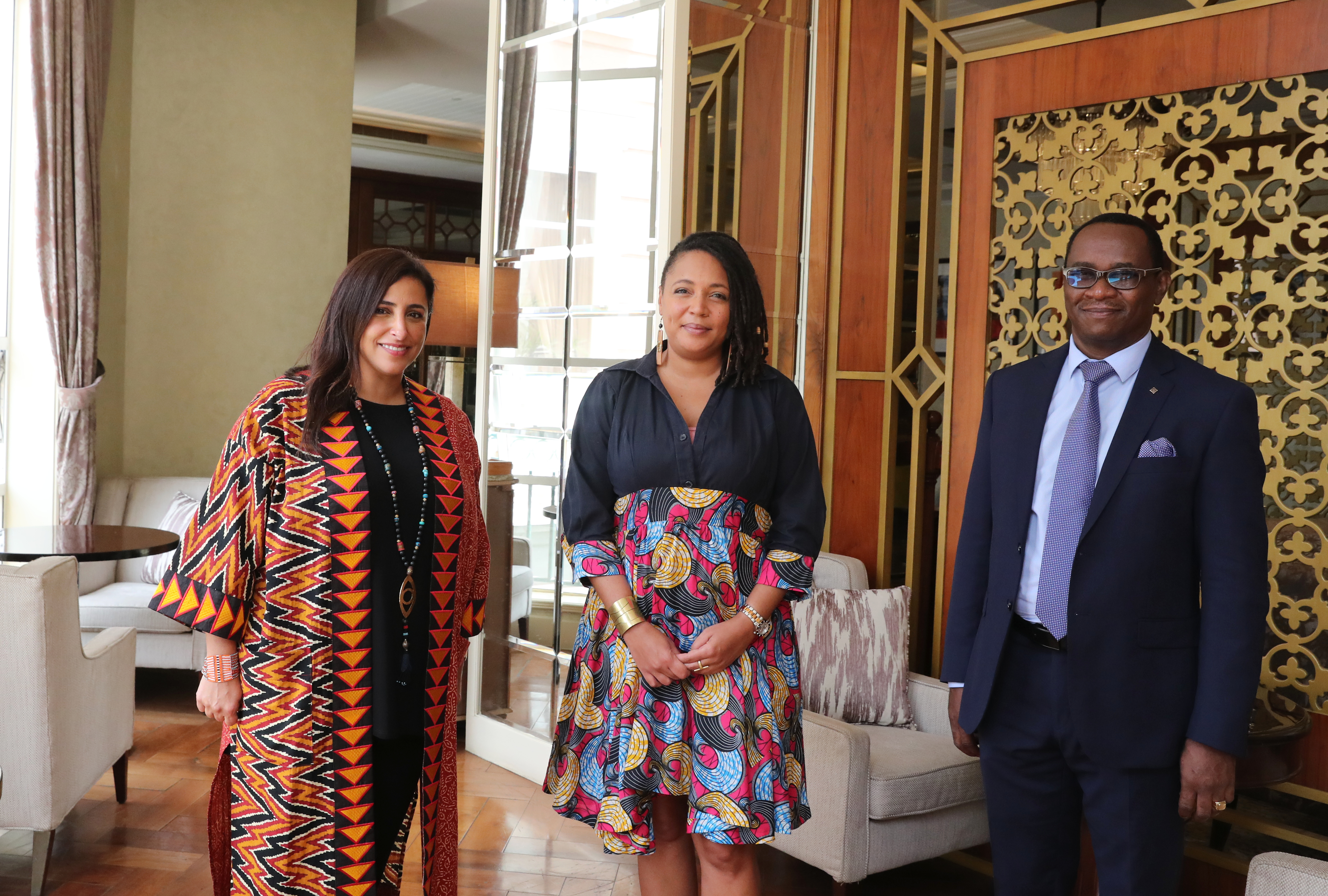 Maimouna, Bodour and Lawrence Njagi